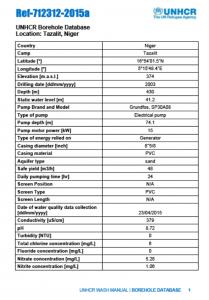 Borehole Database Sample
