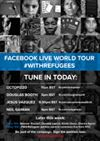 Our #WithRefugees Facebook Live World Tour rolls on across the globe today, starting this morning in Africa with @[89552163841:274:OCTOPIZZO], then over to @[402215643191646:274:Douglas Booth], followed by @[323487350401:274:Jesús Vázquez] , and rounding off the day with style we'll hear from @[300224781015:274:Neil Gaiman]!  Post your questions for our supporters in the comments below.