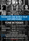 Are you ready to tune in today? Join us LIVE on Facebook and stand #WithRefugees & supporters around the world. http://trib.al/vvgOttn