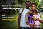 Do you stand #WithRefugees? Join 910,000 others, by signing and sharing now: www.withrefugees.org. You can help us reach 1 million signatures for Friday's handover to Ban Ki-moon. Thank you.