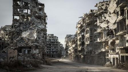 經歷多年的衝突,敍利亞霍姆斯市老城區已受嚴重破壞。©UNHCR/Andrew McConnell