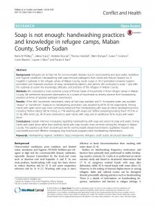 Handwashing South Sudan