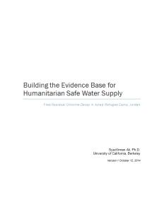 Decay of Chlorine, (Berkeley University and UNHCR, 2014)