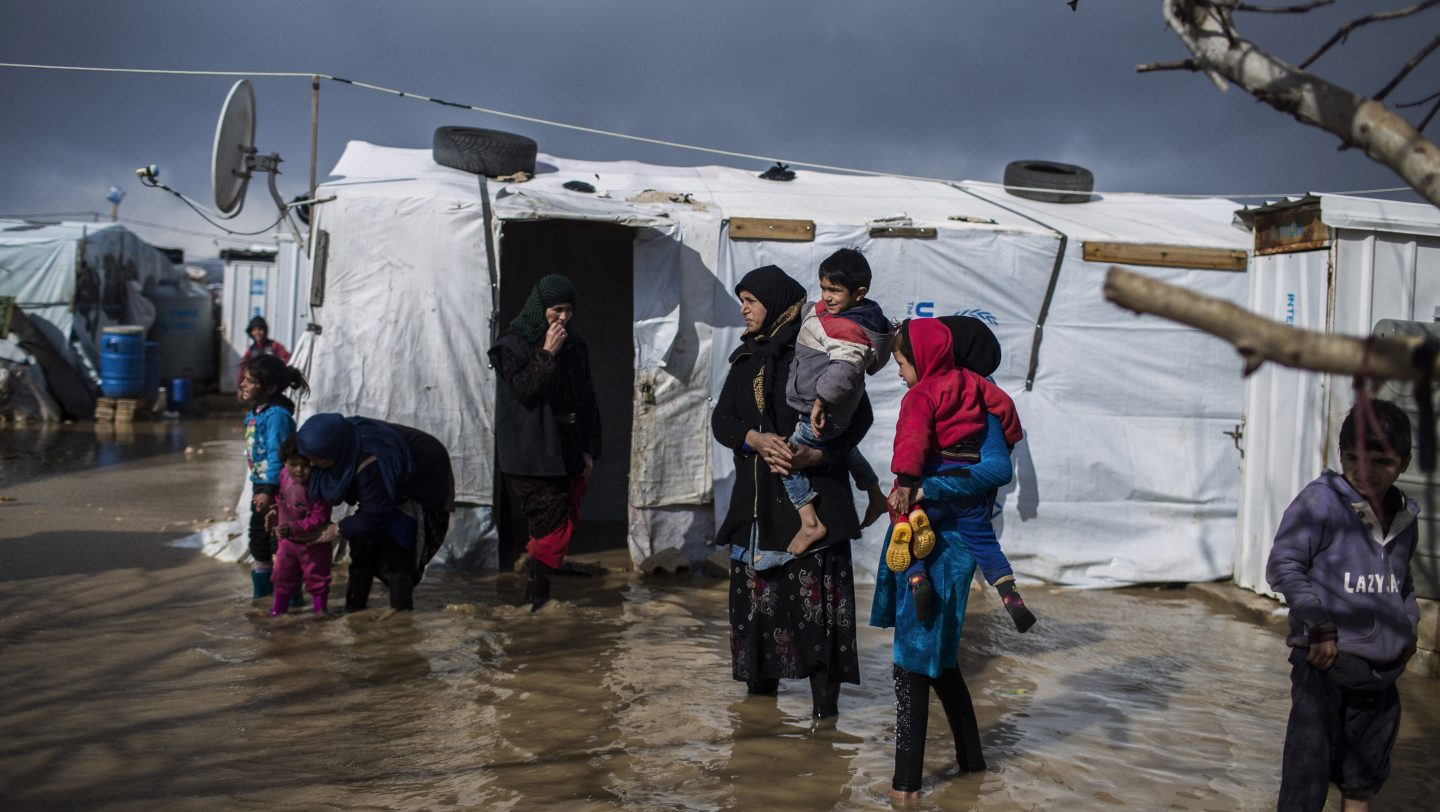 Lebanon. UNHCR Response after Norma battered Lebanon with fierce winds, heavy snow and rainfall