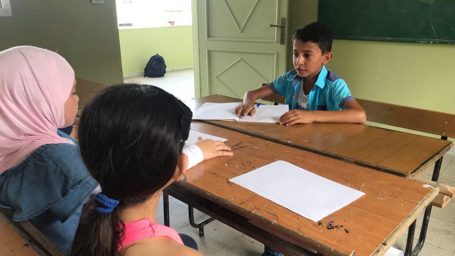 Lebanese teacher helps Syrian refugee thrive at school
